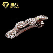 Free Shipping New Chic Women Rhinestone Ties Barrette Bowknot Hair Clip Clamp Hairpin Hairgrip Accessories Wholesale