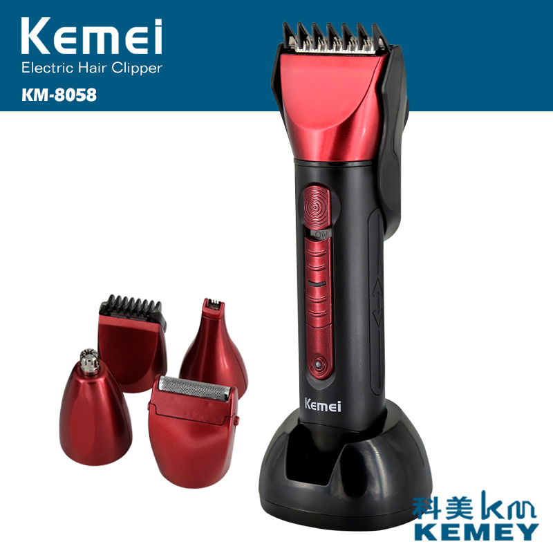 Kemei Electric Hair Trimmers, hair clipper,beard trimmer, Nose&amp;ear trimer,Beard trimmber,Thinning Comb,Comb and scissors<br>