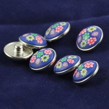 60Pcs/Lot New Snap Buttons Fit 20mm Snap Button Bracelet&Bangles Polymer Clay Jewelry DIY Mixed Printed Flowers Round Snaps