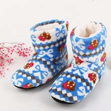 2017 Women At Home Warm Home Shoes Coral Fleece Indoor Floor Socks Winter Soft Plush Floor Slipper Best Quality Home Slippers(China)