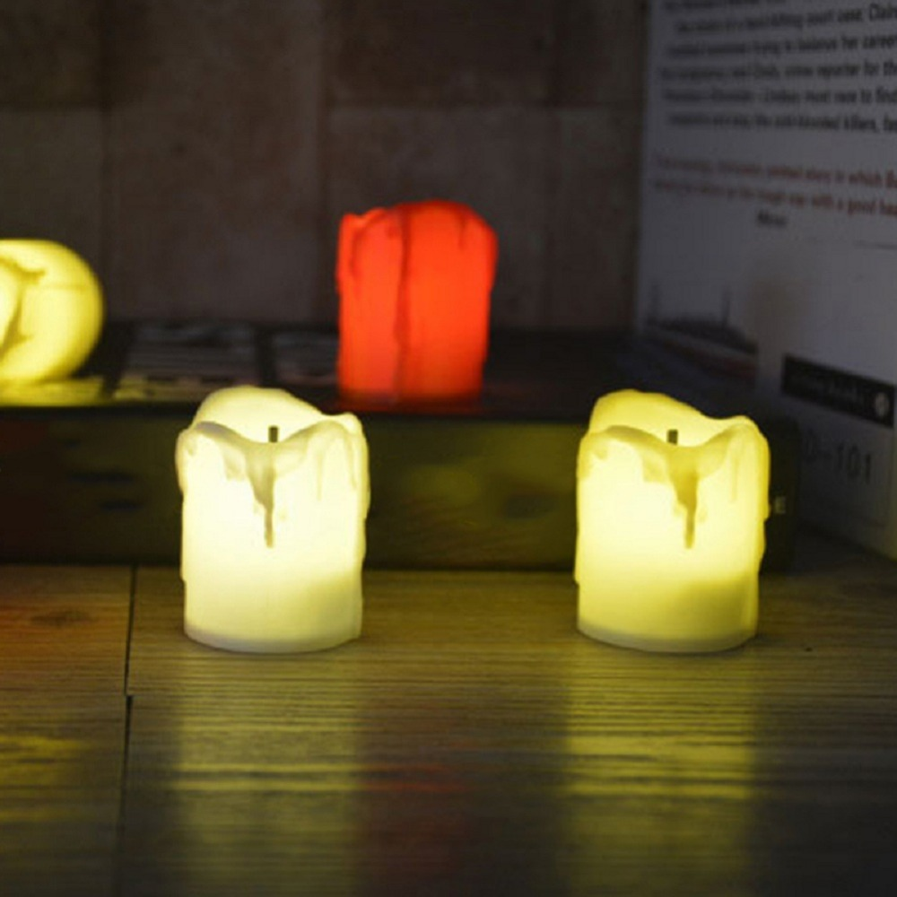 12 PCS of LED Electric Battery Powered Tealight Candles Warm White Flameless for Holiday/Wedding Decoration 8