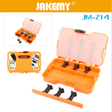 JAKEMY JM-Z14 Components Storage Box Durable Tool Box Mini Utility Component Container Instrument Box Case for SMD Screwdriver(China)