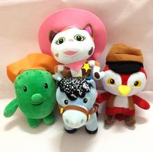 4pcs/set Disney Sheriff Callie's Wild West Short plush toys doll 20-24cm for children kids boys girls birthday gift