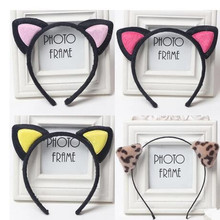 2017 Cute Headwear Heart Cat Ears Character Headbands for Women Party Adult Hello Kitty Hair Accessories(China)