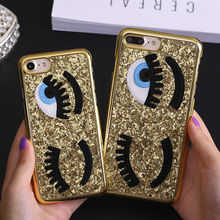 Buy Luxury Bling Blinking Sequins Big Eyes Phone Case iPhone X 6 6S Plus Hard PC Shockproof Cover iPhone 7 Plus 8 Plus Capa for $2.99 in AliExpress store