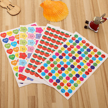 10Pcs/set Cute Emoji Smile Face Sticker, Kindergarten Encourage Children Sticker Labels Decal Mural for Encouraging Kid