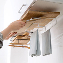 Kitchen Accessories Iron Multi-layer Shelf Multifunctional Cutting Board Storage Cabinet Hanging Holder Cupboards Rack Organizer