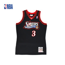 Original NBA Jerseys NO.3 AUTHENTIC PlayerVersion Retro Jerseys Philadelphia Sixers Allen Iverson Men's Jerseys(China)