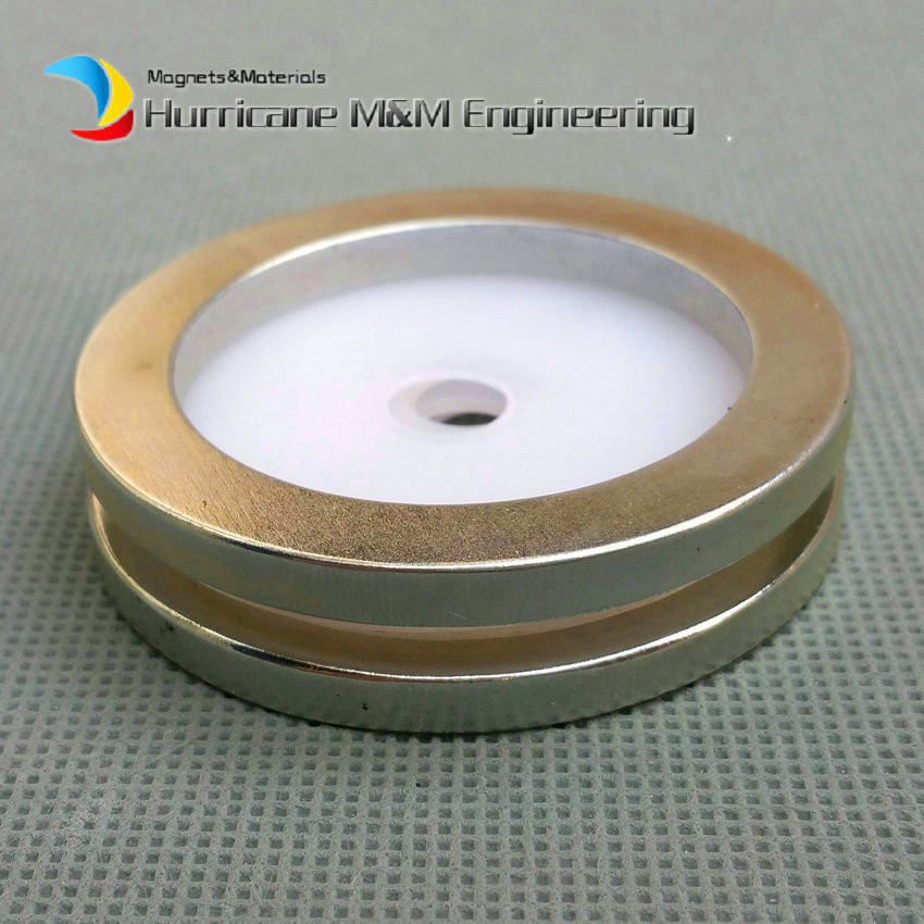 1 Pack NdFeB Magnet Ring OD 50x40x4mm Diameter 1.97 Strong Magnets Axially Magnetized NiCuNi Coated Rare Earth Magnet<br>