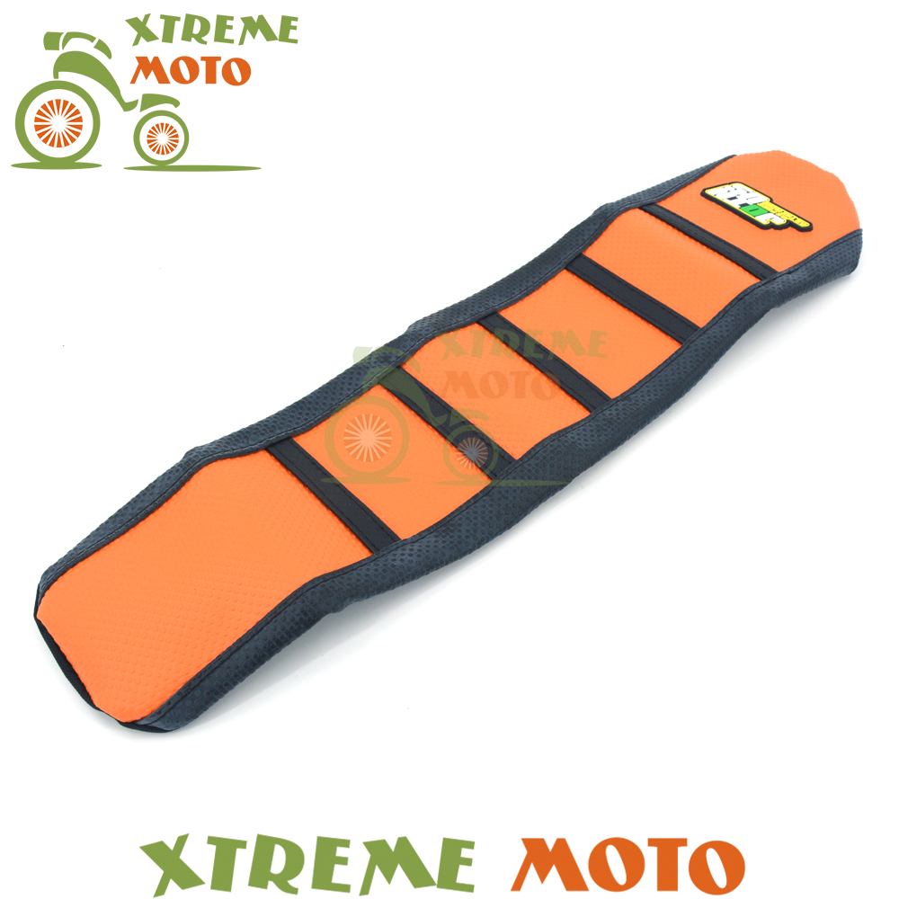Orange Black Motorcycle Gripper Soft Seat Cover For KTM SX65 SX 65 09 10 11 12 13 14 Motocross Dirt Bike Off Road<br>