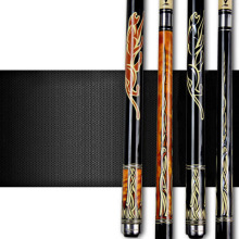 Pool Cues 12.75mm/11.5mm Tip Black Orange Color Billiards Cue Stick China(China)