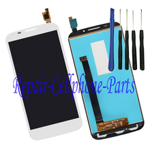White Full LCD DIsplay + Touch Screen Digitizer Assembly  For Alcatel POP S7 7045 OT7045 7045Y 7045A + Free tools