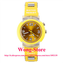 80033 Colorful Flashing Light Water Resistant Women Watch with Rubber Watchband 80033