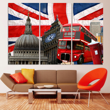 3 Pcs Large HD Beautiful City Building Canvas Print Painting Wall Art Picture Gift,Home Decoration PAINTING for Living Room(China)