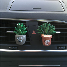 Lovely car plants vehicle air conditioning outlet clip decorative car fragrance  Car Air Freshener Car-styling  100 Original