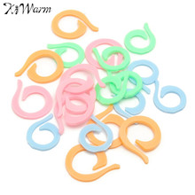 Colorful 20Pcs/Set Mixed Color Plastic Knitting Weave Crochet Locking Stitch Clip Markers Hook Crochet Latch Knitting Accessory(China)