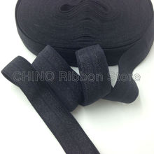"10Y/lot Solid Black Fold Over Elastic  5/8"" FOE Elastic Ribbon for Hair Tie DIY Headwear Hair Accessories Many Colors Available"