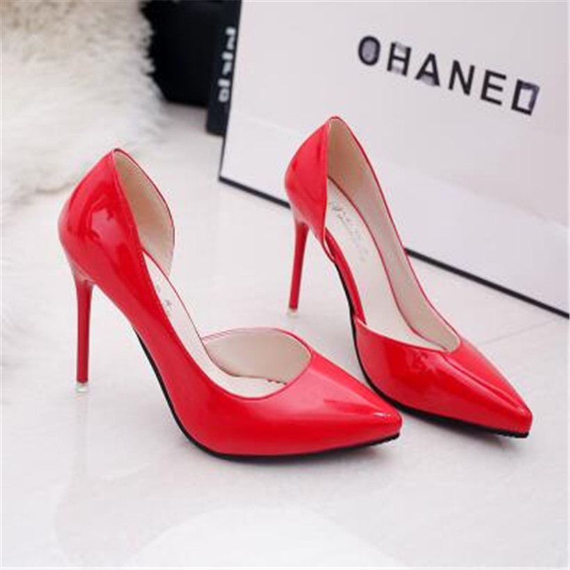 New 2017 arrivel women shoes high heel Shoes women pumps  high heels shoes woman wedding shoes Red Black Pumps<br><br>Aliexpress
