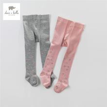 DB4272 dave bella autumn baby girl tight baby flower jacquard grey tights pink tight(China)