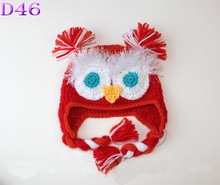 Cute Warm Cotton Baby Toddler Hat Kids Owl Pattern Knitted Crochet Beanie Warming Earflap Infant Hat for Photo Prop Costume