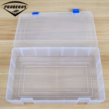 Simple 1 Compartment Plastic Fishing Tackle Box For Fishing Lures 36X22.5X8cm Fishing Accessaries Hooks Spoons Transparent
