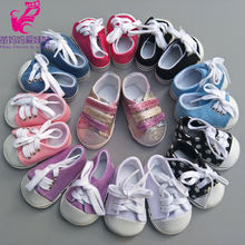 7cm Doll Shoes Fits 43cm zapf baby born Dolls Reborn Baby Doll shoes sneacker 18 inch doll sports shoes(China)