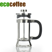 Free Shipping 350ML Coffee French Press Coffee Plunger Coffee Maker(China)