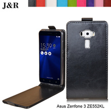Imitation Leather Case For Asus Zenfone 3 ZE552KL ZE520KL Cover Coque Funda Phone Bag Free Ship Free Film
