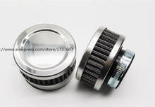 1pcs Stainless Ring Motorcycle Air Filter 32MM 35MM 38MM 48MM 54MM 60MM Cleaner For SR400 HONDA CB550 CB750 Kawasaki KZ650(China)