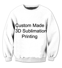 REAL American SIZE Custom - Create your own - 3D Sublimation Print Crew neck Sweatshirt - plus size(China)