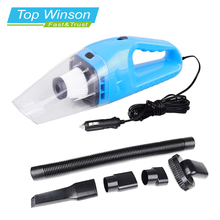 Car Vacuum Cleaner Hand Held Wet and Dry dual-use Auto Cigarette Lighter Hepa Filter 12V 120W Blue(China)