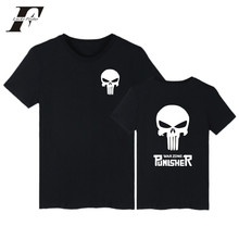 LUCKYFRIDAYF 2017 MARVEL Punisher New Style Gothic Hip Hop Brand Men/Women Short Sleeve T Shirt Summer Clothes With Plus Size