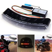 Rectangle 8 LED Wireless Motorcycle Helmet Brake Light Motorbike Automotive Multi-Color Turn Signal Warning Flasher Lamp(China)