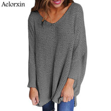 Aelorxin Plus Size Loose Sweater Women 2017 Autumn Winter Women Sweaters and Pullovers Female Tricot Knitted Jumper Pull Femme(China)