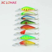 9cm 6.6g Fishing Lure Pike Hard Plastic Baits 3D Fish Eye Artificial Swimbait Crankbait Lighted Color Fishing Lures MI030