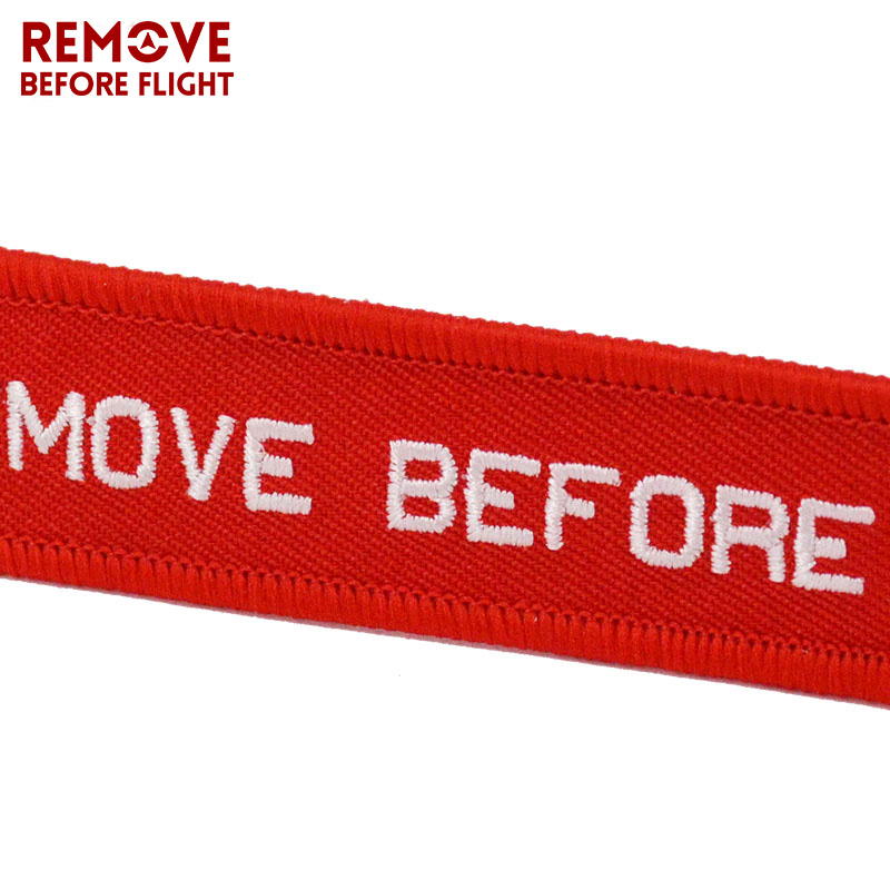 Remove Before Flight OEM Key Chains Berloques Red Embroidery Highlight Key Fobs Chains Jewelry Aviation Gifts Chaveiro Masculino4