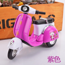 Alloy model car mini electric children cute little sheep car back to power car model toy scooter(China)