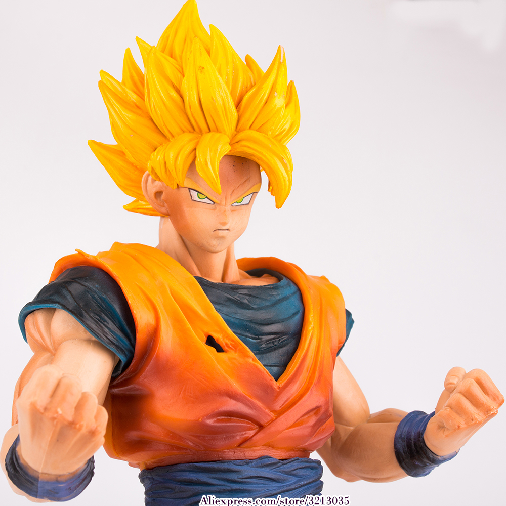 Japan Anime Dragon Ball Z Grandista Resolution of Soldiers ROS Collection Figures Super Saiyan Son Goku Action Figure Toys 28CM<br>