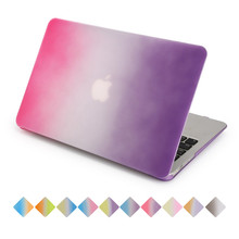 for apple macbook air 13 case rainbow gradient rose to purple air pro retina 11 12 13 15 inch with free keyboard cover(China)