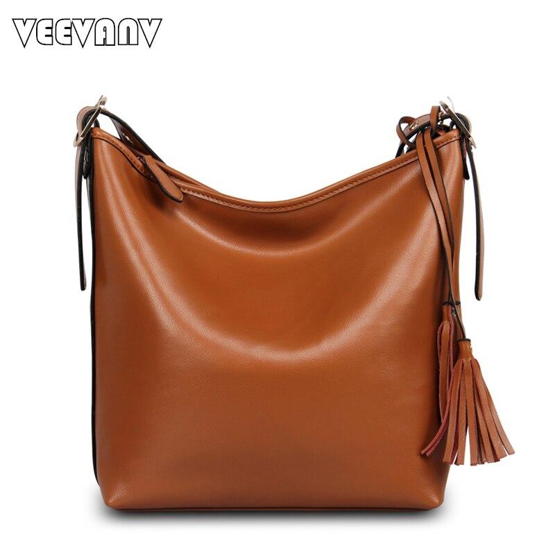 2018 VEEVANV High Quality Leather Handbags Vintage Women Messenger Bag Fashion Ladies Handbag Tote Bag Brand Design Shoulder Bag<br>
