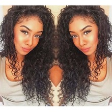 Best Quality Ponytail Kinky Curly Full Lace Wigs With Baby Hair Long Natural Hair Wigs Glueless Lace Front Wig Malaysian Hair