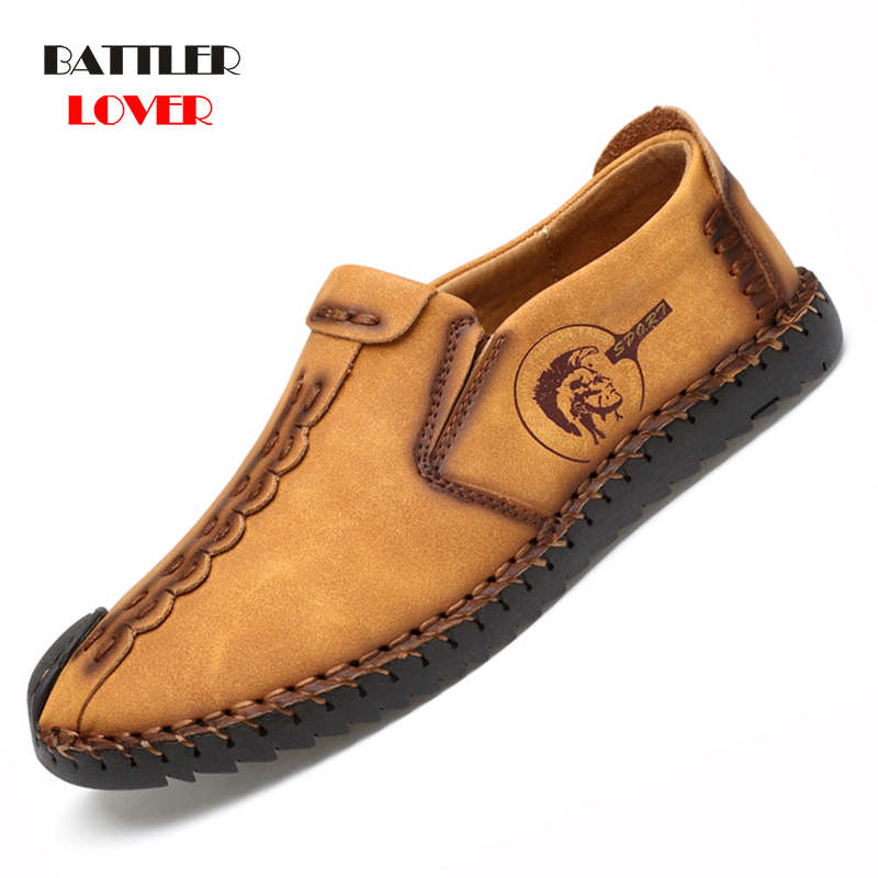 Size 38-48 Men Driving Shoes Genuine Leather Mens Loafers Mocassins Spring Autumn Leisure Shoes Men Footwear Shoe Dropshipping