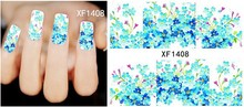 Factory Wholesale 1 Sheet French Design Water Transfer Tips Nail Art Decorations Nail Sticker Manicure Nail Decal Nail Tools(China)
