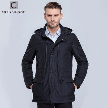 Ville Classe 2016 nouveau hommes printemps veste et manteau stand col bussiness style mince unique multi-poche pour mâle mince coton 16060