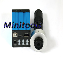 14MP 3 in 1 TV HDMI USB Industry Digital C-mount Microscope Camera TF Card Output with Long distance lens for PCB LCD Lab New(China)
