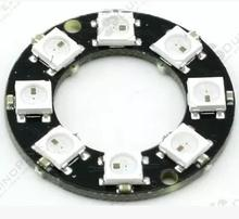 5PCS RGB LED Ring 8 Pieces of LEDs WS2812 5050 RGB LED Ring Lamp Light with Integrated Drivers