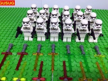 GUSUG 18PCS SW188 Stormtrooper Imperial Shuttle with Lightsaber Building Blocks Bricks Best Gift Baby Toys(China)
