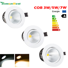 Led downlight spot led Super Bright Recessed LED Dimmable Downlight COB 3W 5W 7W LED Spot light Ceiling Lamp