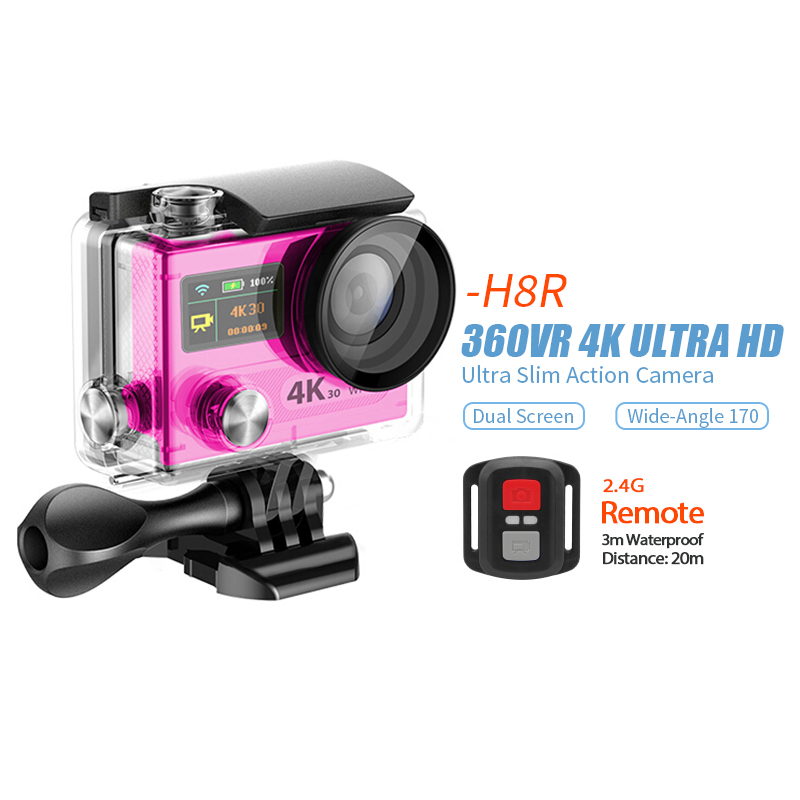 H8R 4K WiFi Action camera with 2.4G remote control Full HD DVR SJ4000 video go pro camera Helmet Action Camera Waterproof DV<br><br>Aliexpress