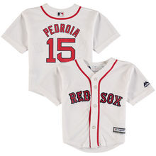 MLB Infant Boston Red Sox Dustin Pedroia Baseball White Official Cool Base Player Jersey(China)